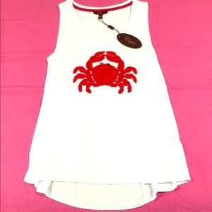 NWT Nautical Crab Top- Size Small